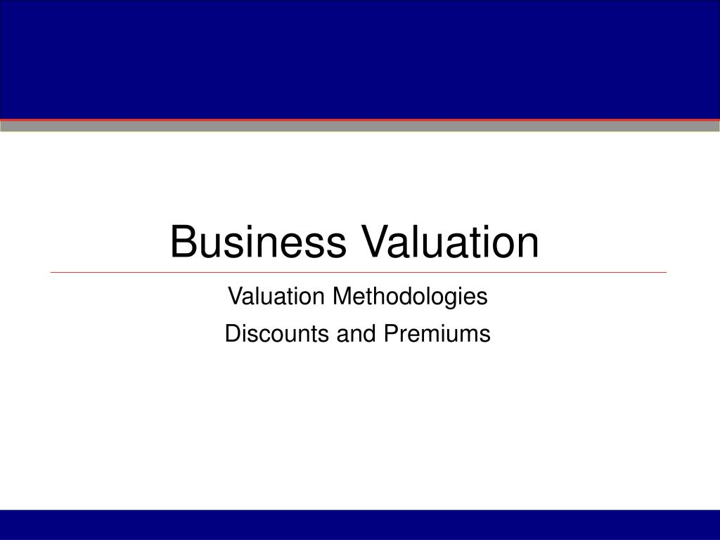 business valuation l.