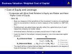 business valuation weighted cost of capital16