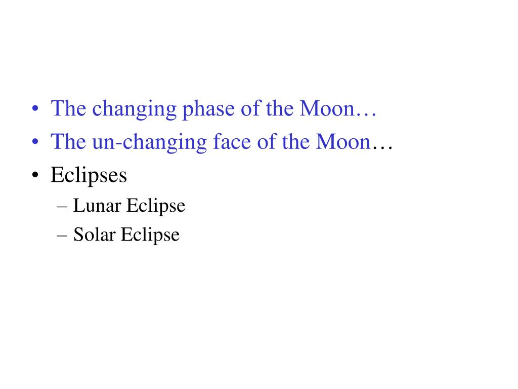 The changing phase of the Moon…