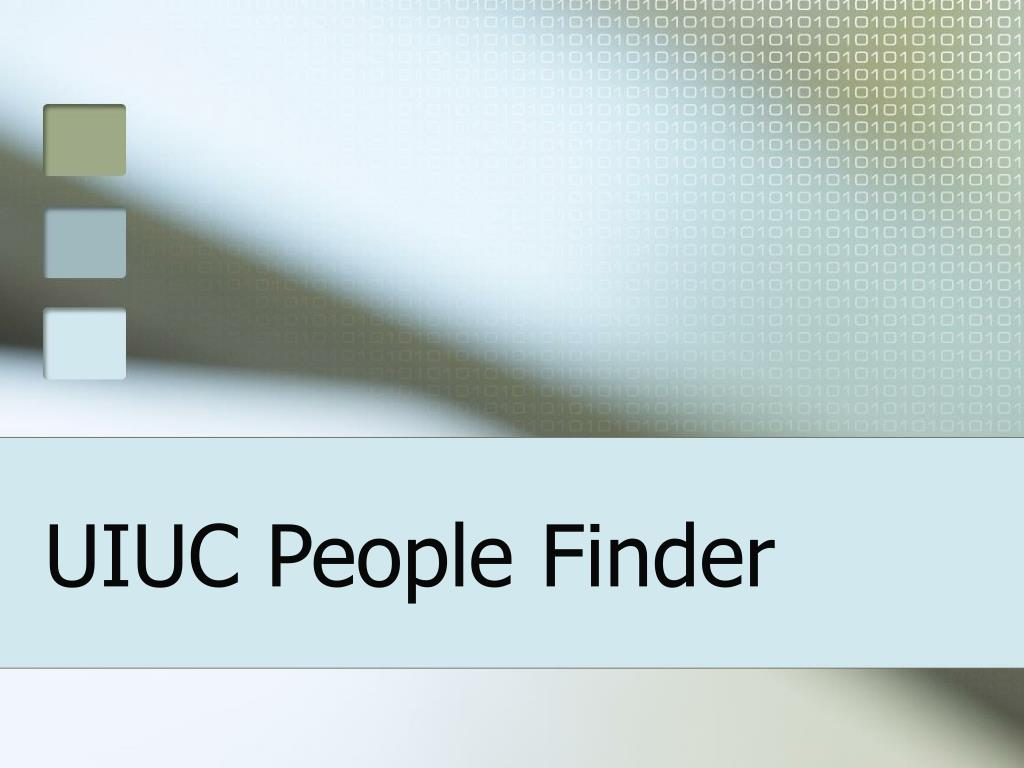 uiuc people finder l.