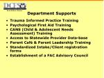 department supports