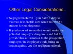 other legal considerations14