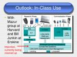 outlook in class use