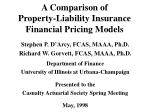 a comparison of property liability insurance financial pricing models