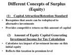 different concepts of surplus equity