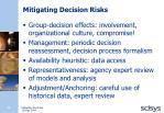 mitigating decision risks