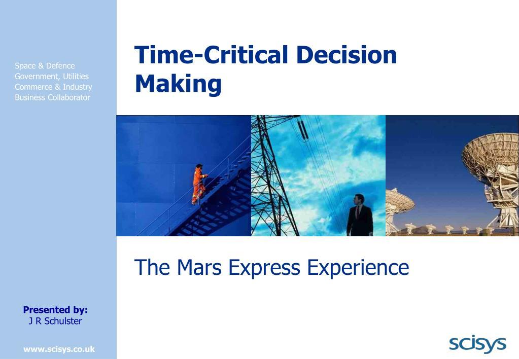 time critical decision making l.