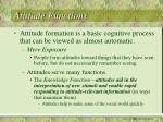 attitude functions