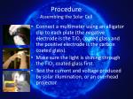 procedure assembling the solar cell13