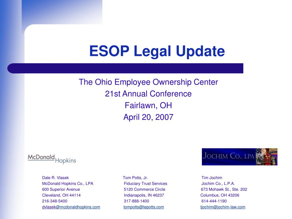 esop legal update l.