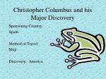 christopher columbus and his major discovery