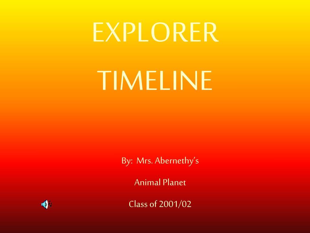 explorer timeline l.