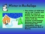 winter in hochelaga