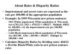 about rates disparity ratios