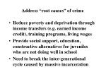 address root causes of crime