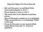 disparities higher for prison than jail