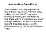 american drug control policy