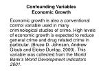 confounding variables economic growth