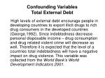 confounding variables total external debt