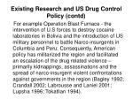 existing research and us drug control policy contd