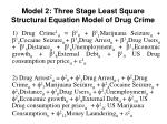 model 2 three stage least square structural equation model of drug crime