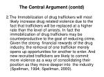 the central argument contd