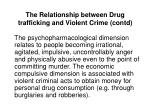 the relationship between drug trafficking and violent crime contd