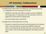 hit activities collaborations