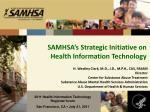 samhsa s strategic initiative on health information technology