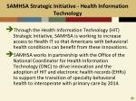 samhsa strategic initiative health information technology