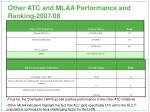 other atc and mlaa performance and ranking 2007 08