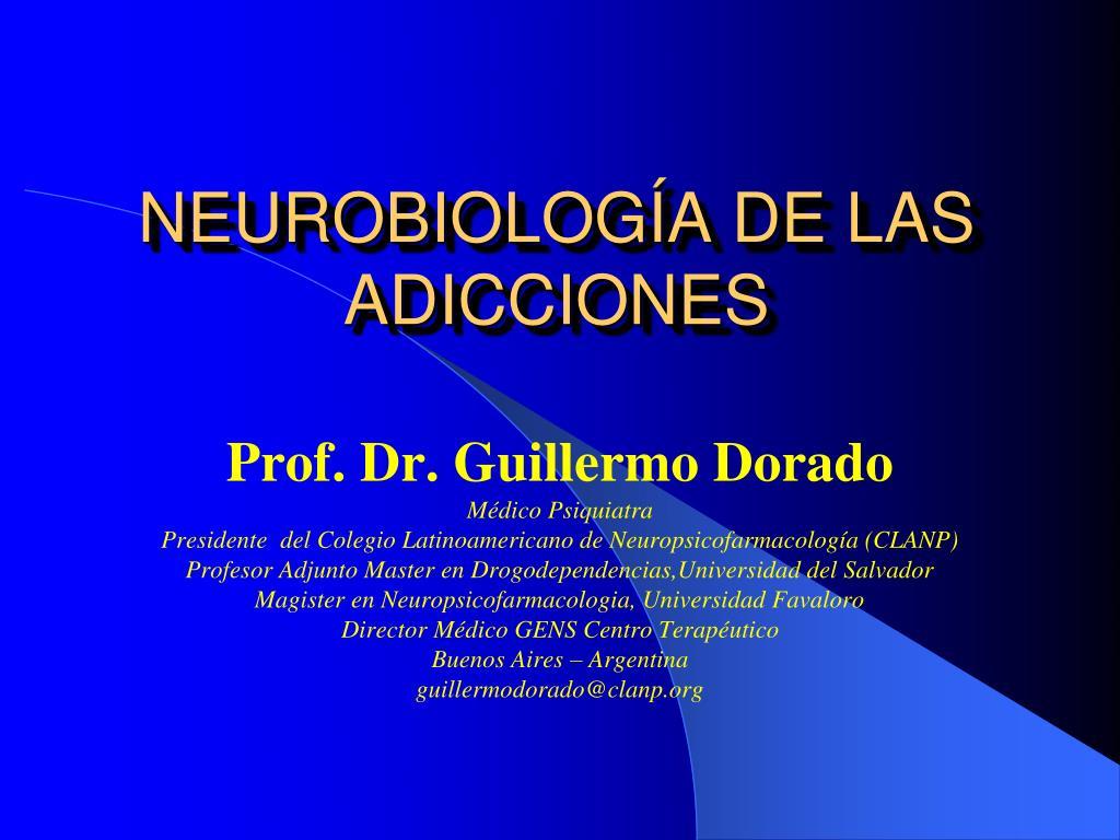 neurobiolog a de las adicciones l.