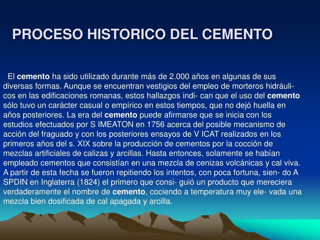 proceso historico del cemento l.