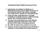 subsidized state health insurance pools