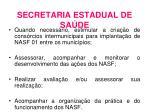 secretaria estadual de sa de