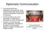 diplomatic communication