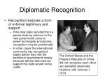 diplomatic recognition7
