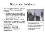 diplomatic relations9