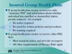 insured group health plans