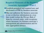 required elements of the business associate agreement part i