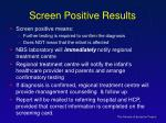 screen positive results