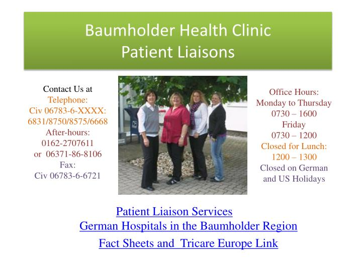 baumholder health clinic patient liaisons n.