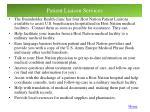 patient liaison services
