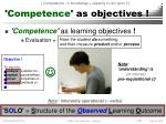 competence as objectives12