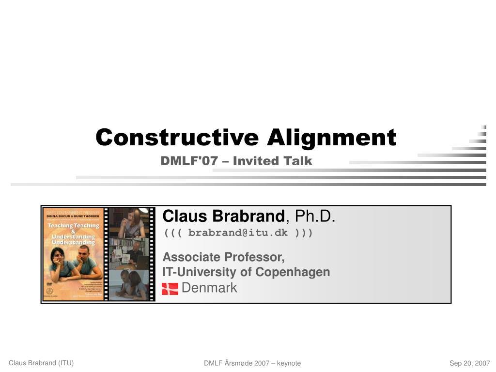 constructive alignment l.