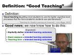 definition good teaching