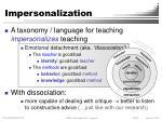 impersonalization