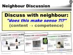neighbour discussion