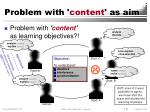 problem with content as aim
