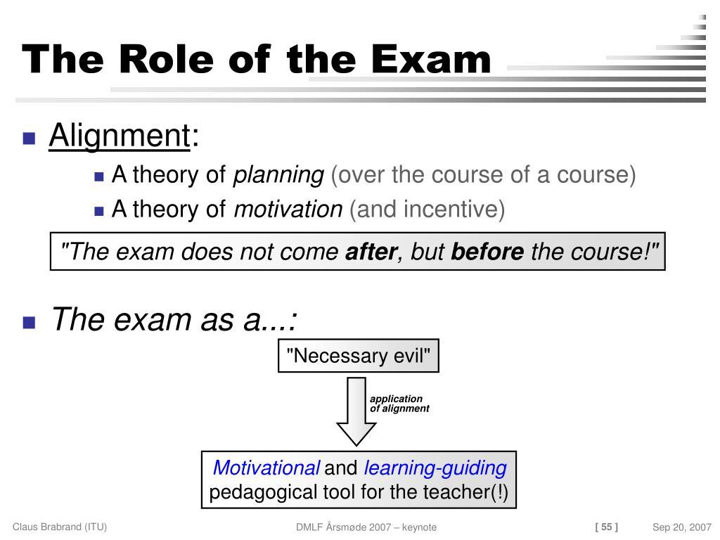 examination necessary evil
